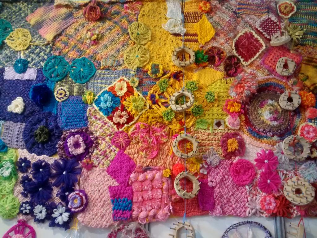 tapiz tejido con agujas y telares dib